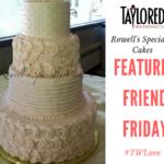 Upper Peninsula wedding cake Rowells Cakes Escanaba Michigan