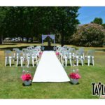 wedding runner outdoor decor ceremony weather wind