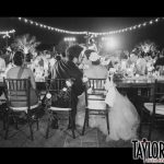 bride, groom, guests, kissing, kissing game, kissing menu, reception, dinner, meal, clinking glasses, wedding ideas, wedding tips, laughter, fun, interactive