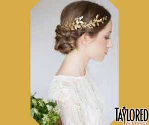 bride, wedding, ceremony, tradition, history, Greek, Greece, crown, bridal crown, leaves, gold